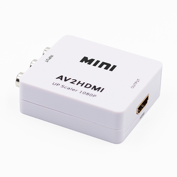 Mini 1080 P Kompozit AV RCA HDMI Video Converter Adaptörü Full HD 720/1080 p UP Ölçekleyici AV2HDMI HDTV için Standart TV